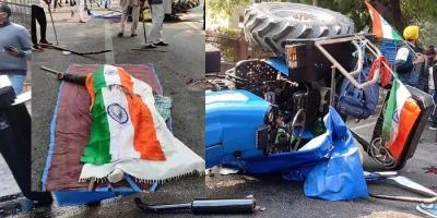 एक किसान ट्रैक्टर चालक की ट्रैक्टर मार्च के दौरान हादसे में मौत