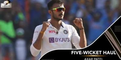 पिंक बॉल टेस्ट में अक्षर के छक्के ने इंग्लैण्ड के छुडाये छक्के, 112 रनों पर ढेर, रोहित ने संभाला मोर्चा
