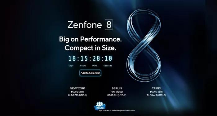 स्मार्टफोन Asus ZenFone 8 की 12 मई से लॉन्चिंग