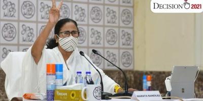 दीदी ने डबल सेंचुरी जड़ लगायी हैटट्रिक, TMC वापस बनाएगी बंगाल में सरकार, भाजपा को दी करारी हार